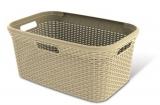 Koš na čisté prádlo RATTAN 45l - krémový, Curver