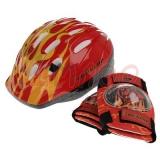 Set dětská cyklo helma Dunlop+chrániče, červená